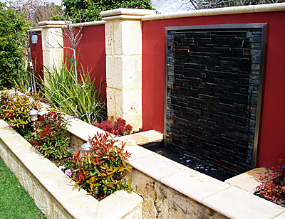 Water features perth water features wa water walls water for Garden features australia